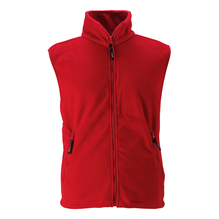 Unisex červená fleece vesta