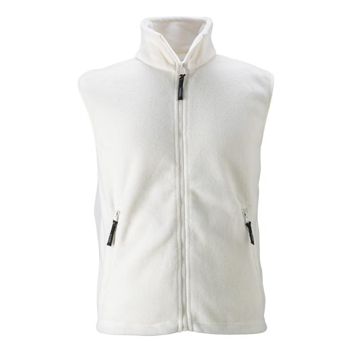 Unisex bílá fleece vesta
