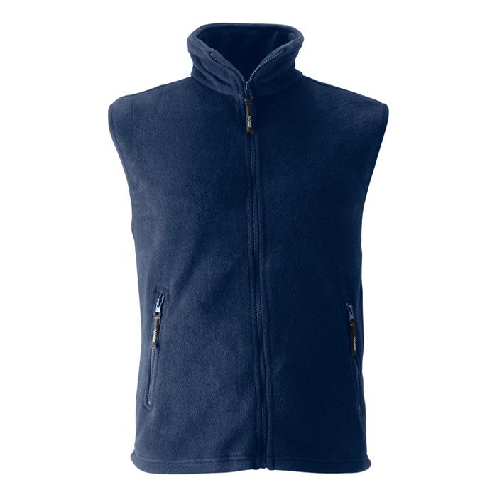 Unisex tmavě modrá fleece vesta s potiskem