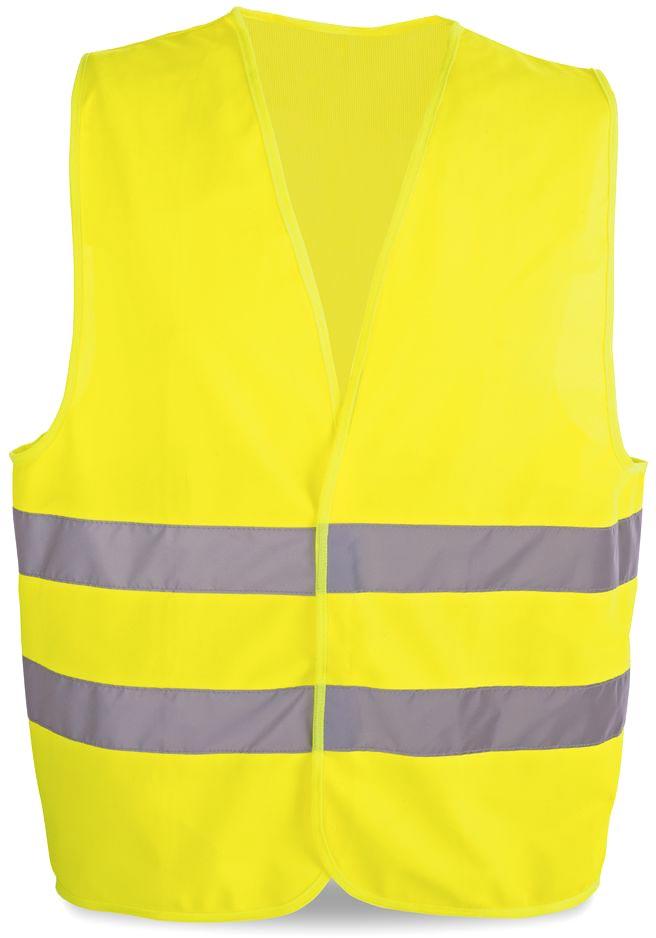 Reflexní vesta žlutá s potiskem