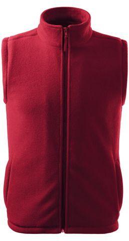 NEXT unisex fleecová vesta, 280 g/m2, ADLER, tmavě červená