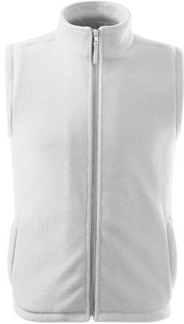 NEXT unisex fleecová vesta, 280 g/m2, ADLER, bílá