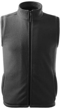 NEXT unisex fleecová vesta, 280 g/m2, ADLER, šedá s potiskem