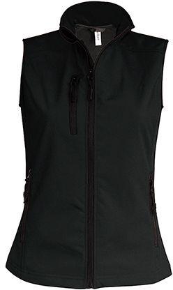 VESTY WOMEN dámská softshellová vesta, 300 g/m2, KARIBAN, černá