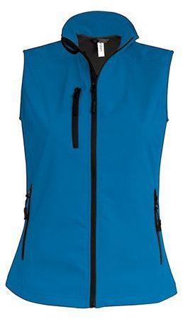 VESTY WOMEN dámská softshellová vesta, 300 g/m2, KARIBAN, modrá