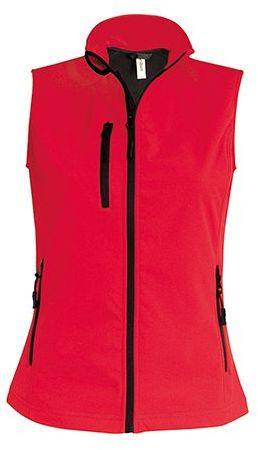 VESTY WOMEN dámská softshellová vesta, 300 g/m2, KARIBAN, červená