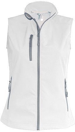 VESTY WOMEN dámská softshellová vesta, 300 g/m2, KARIBAN, bílá