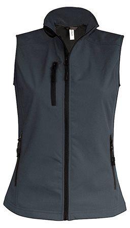 VESTY WOMEN dámská softshellová vesta, 300 g/m2, KARIBAN, šedá