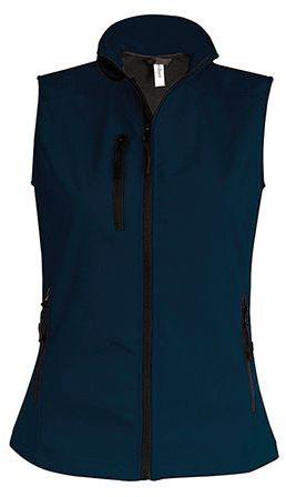 VESTY WOMEN dámská softshellová vesta, 300 g/m2, KARIBAN, tmavě modrá