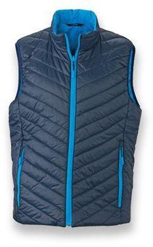 WESTIX MEN pánská oboustranná polyamidová vesta, JAMES NICHOLSON, tmavě modrá
