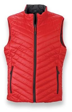 WESTIX MEN pánská oboustranná polyamidová vesta, JAMES NICHOLSON, červená