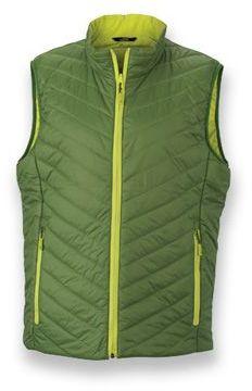 WESTIX MEN pánská oboustranná polyamidová vesta, JAMES NICHOLSON, světle zelená