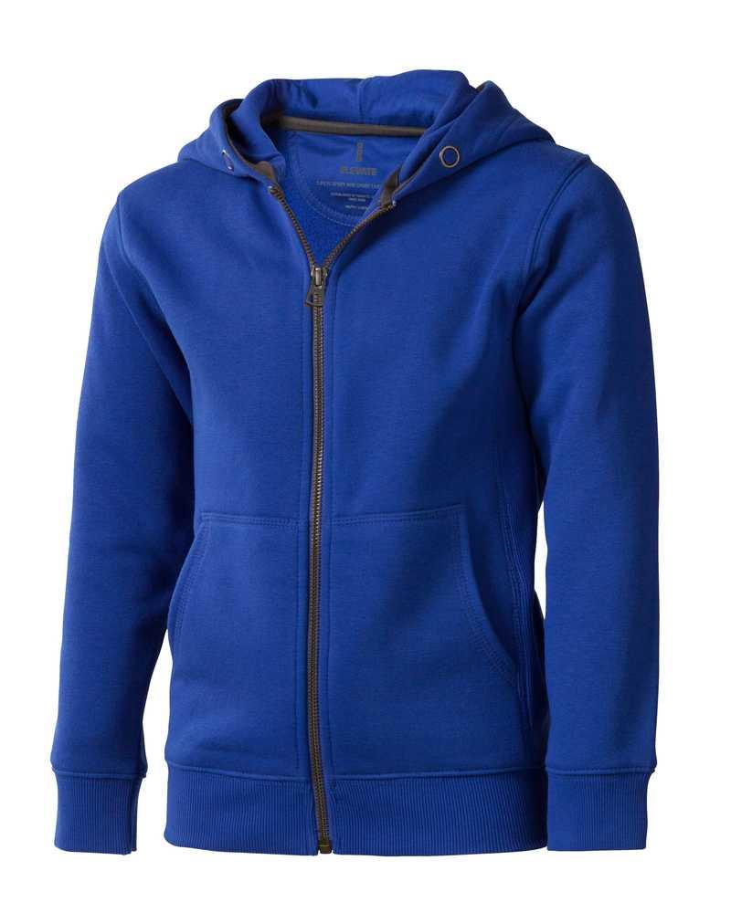 Arora dětská modrá mikina s kapucí a dlouhým zipem