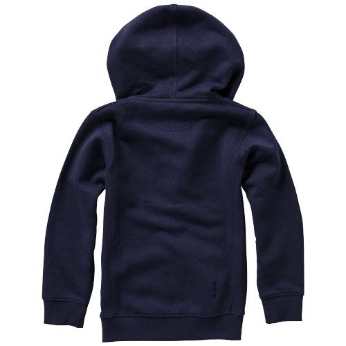 Arora dětská tmavě modrá mikina s kapucí a dlouhým zipem