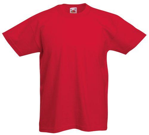 Valueweight červené dětské tričko