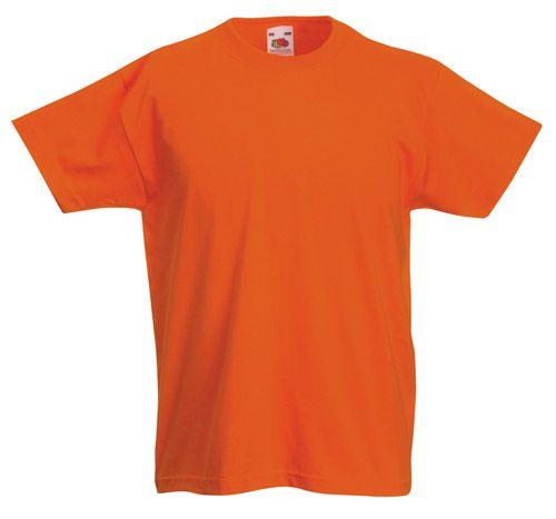 Valueweight oranžové dětské tričko