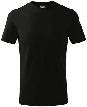 SMALLER dětské tričko, 160 g/m2, ADLER, černá