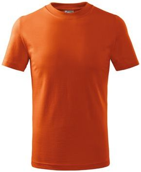SMALLER dětské tričko, 160 g/m2, ADLER, oranžová s potiskem