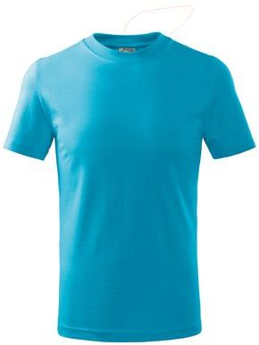 SMALLER dětské tričko, 160 g/m2, ADLER, tyrkysová
