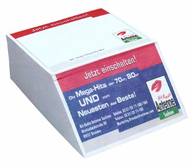 Papírová kostka - větší bloček s potiskem