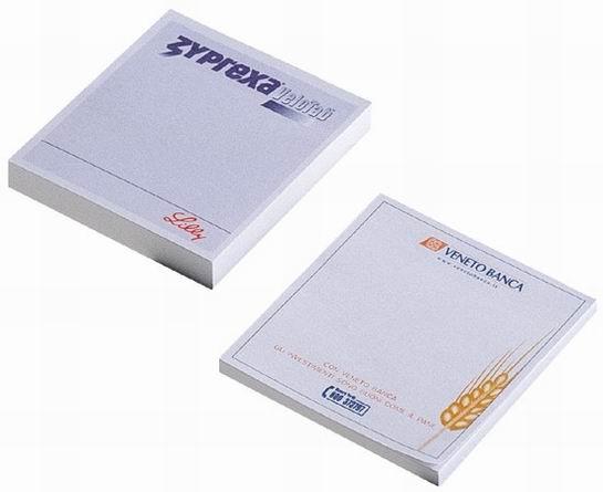 Samolepicí bloček - čtverec, 100 lístků s potiskem