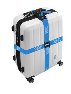 Dvojitý stahovací pás na kufr s potiskem