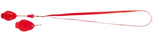 Colina červená píšťalka s potiskem