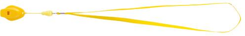 Colina žlutá píšťalka s potiskem