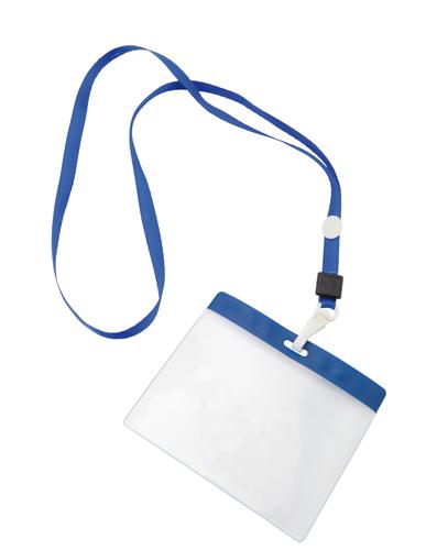 Držák na vizitky modrý