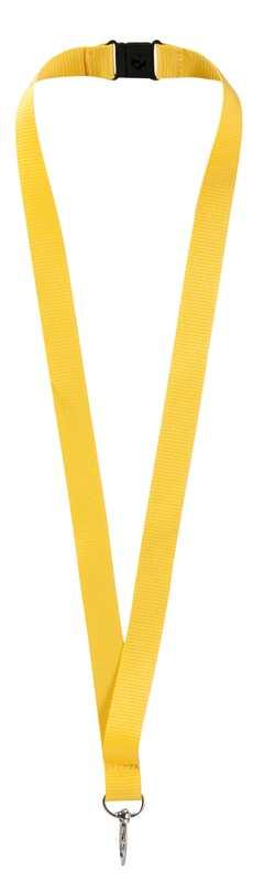 Lanyard žlutý