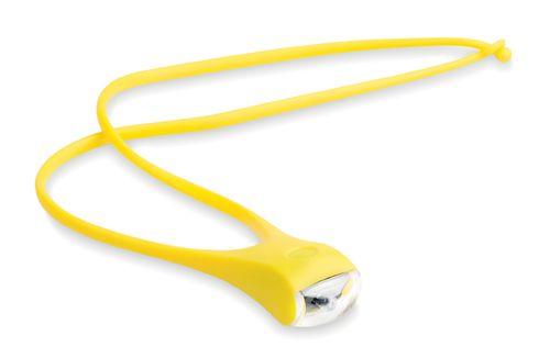 Žlutý lanyard se svítilnou