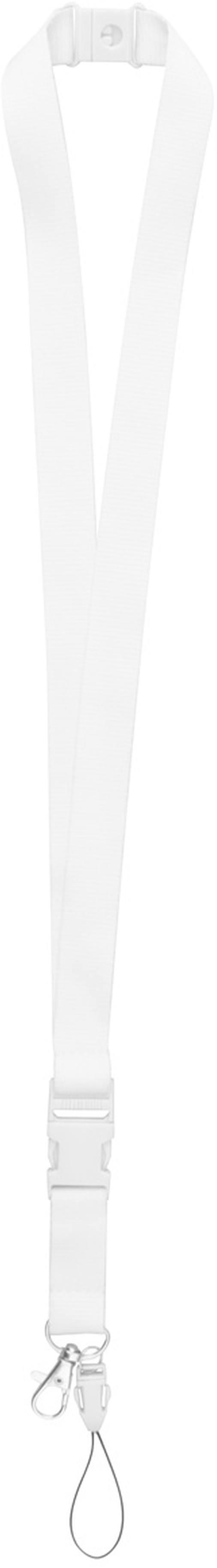 Edain bílý lanyard s potiskem