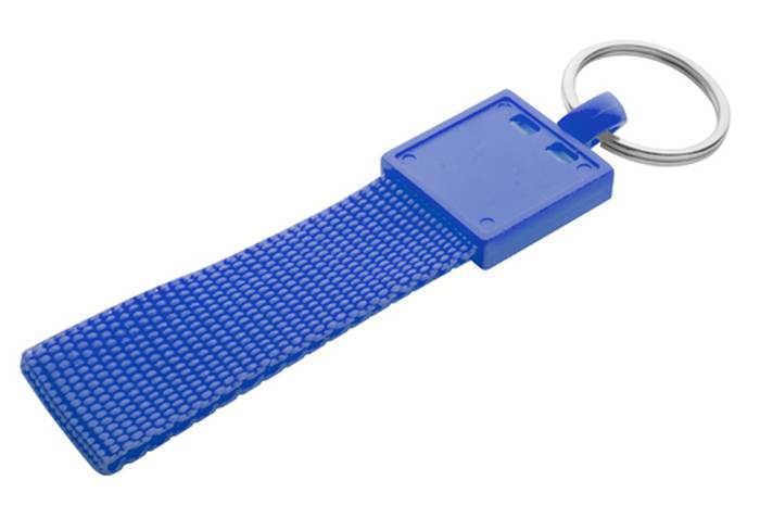 Quick modrá klíčenka s potiskem