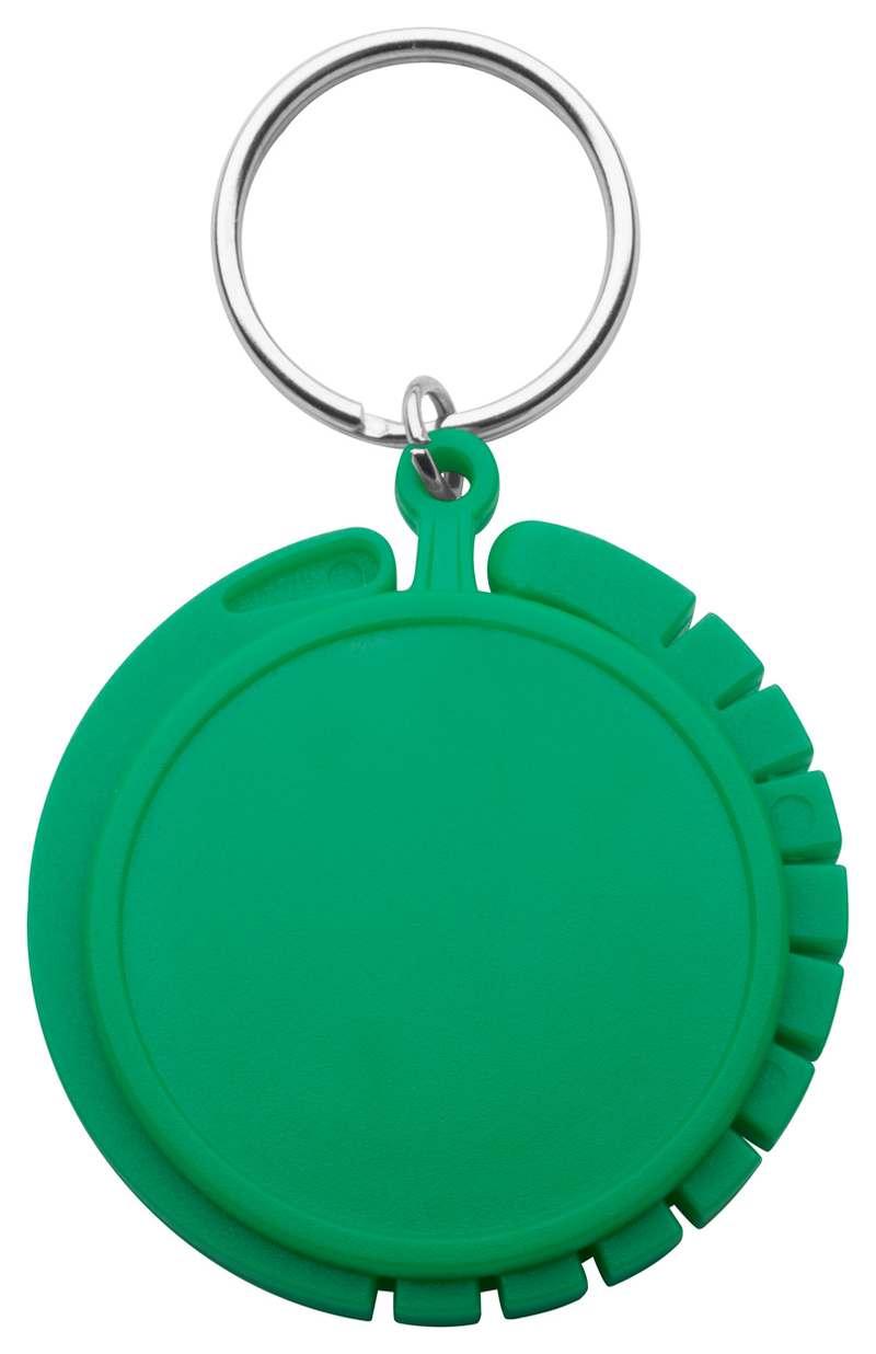 Foldy zelený věšák na tašky s potiskem