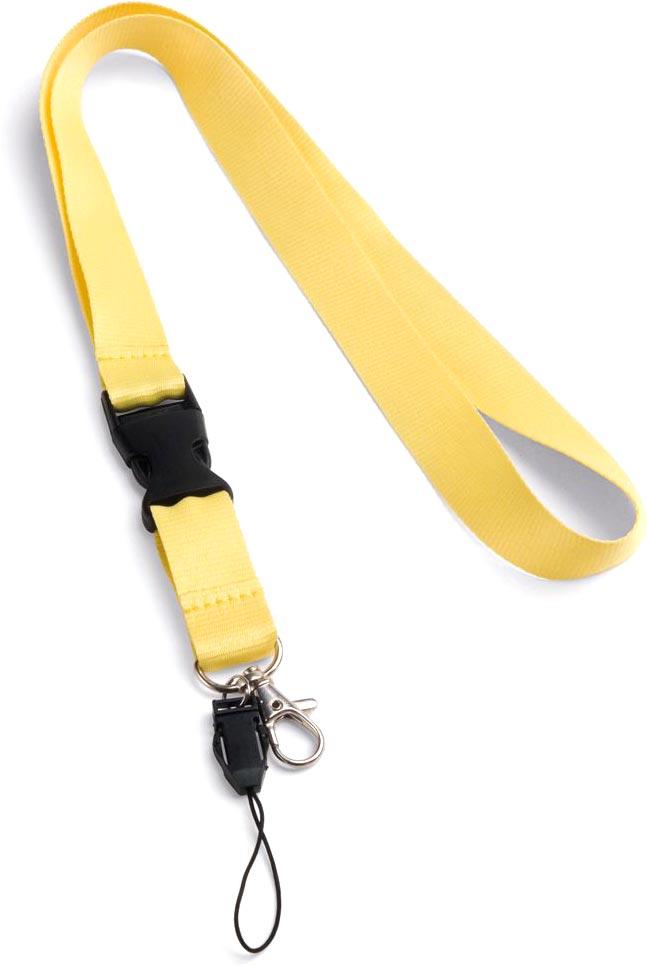 Šňůrka na krk žlutá