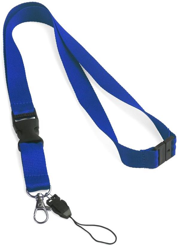 Šňůrka na krk modrá s potiskem