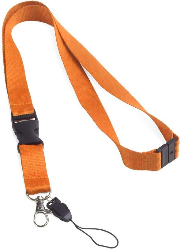 Šňůrka na krk oranžová s potiskem