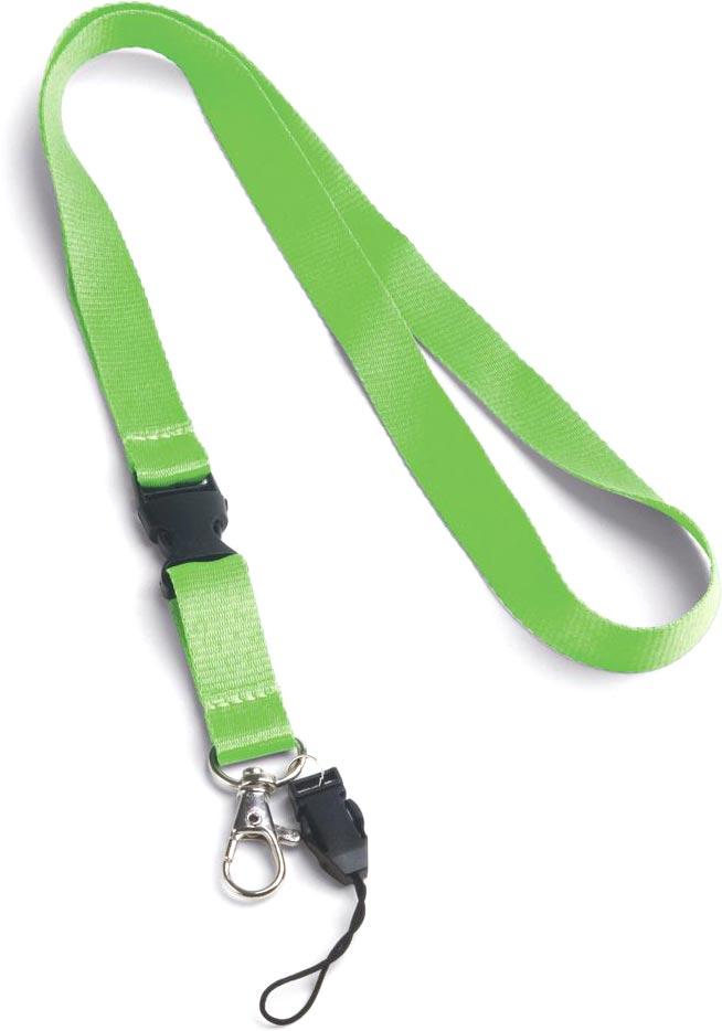 Šňůrka na krk světle zelená