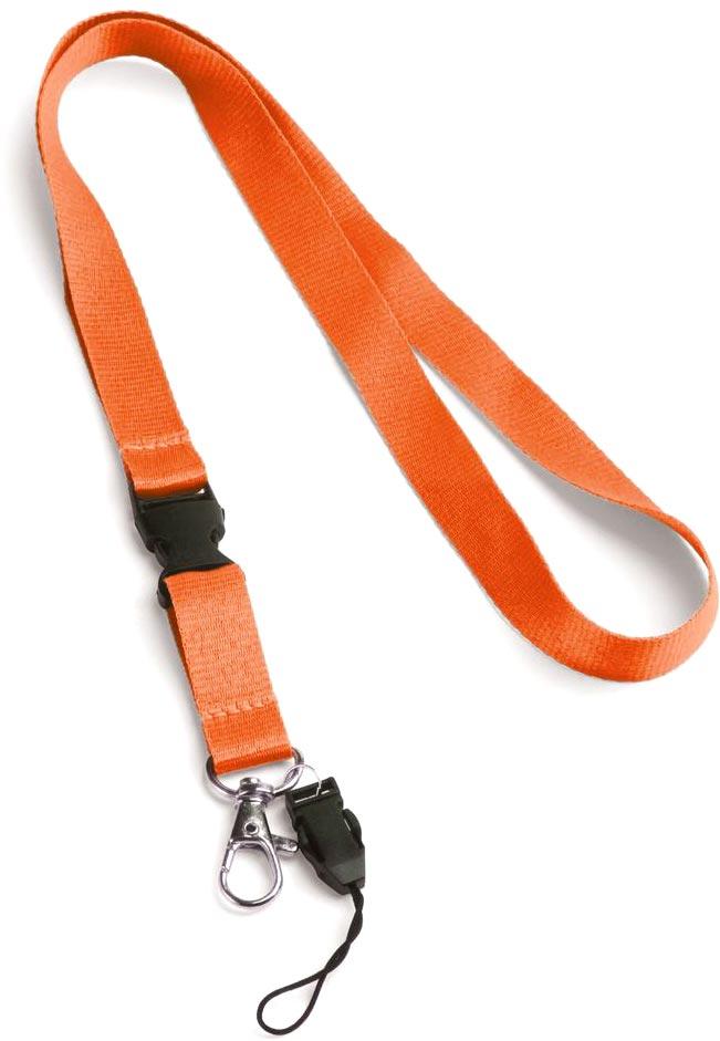 Šňůrka na krk oranžová