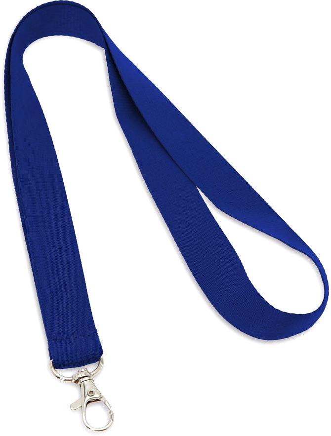 Šňůrka na krk modrá