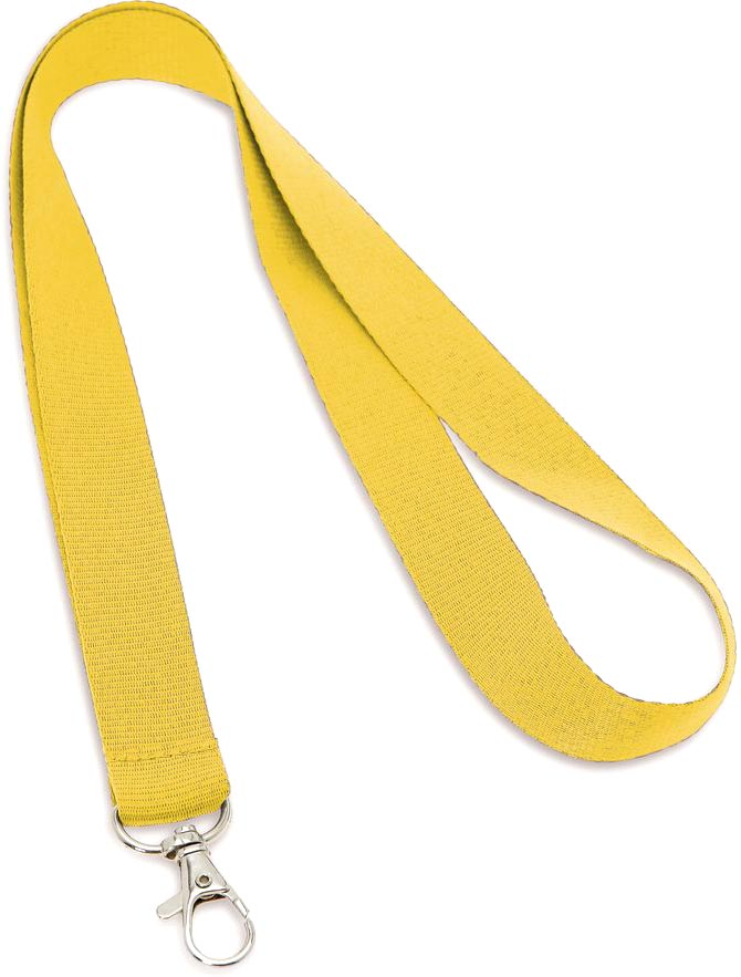 Šňůrka na krk žlutá s potiskem