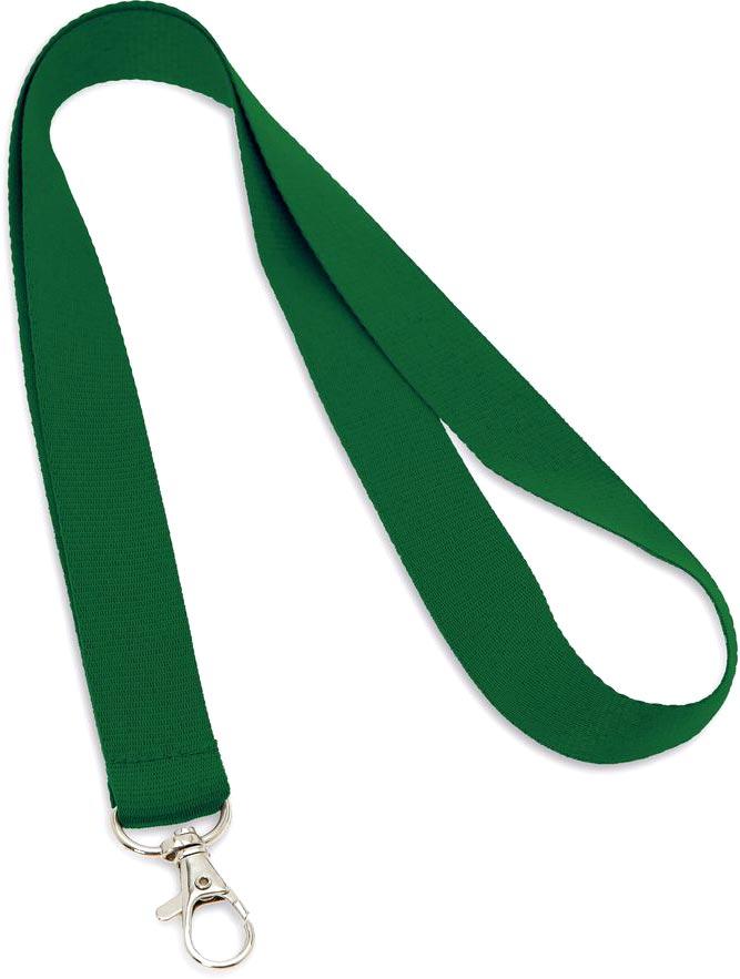 Šňůrka na krk zelená