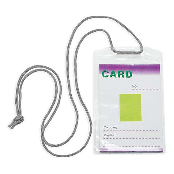 Šňůrka na krk s obal na identifikační kartu modrá