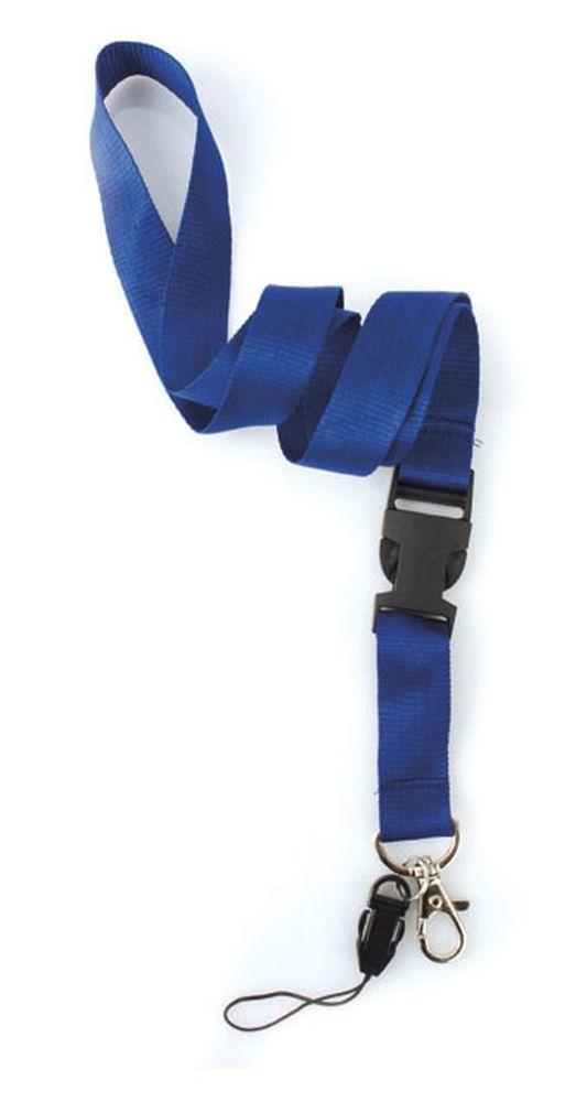 Dvojdílná šňůrka na krk modrá