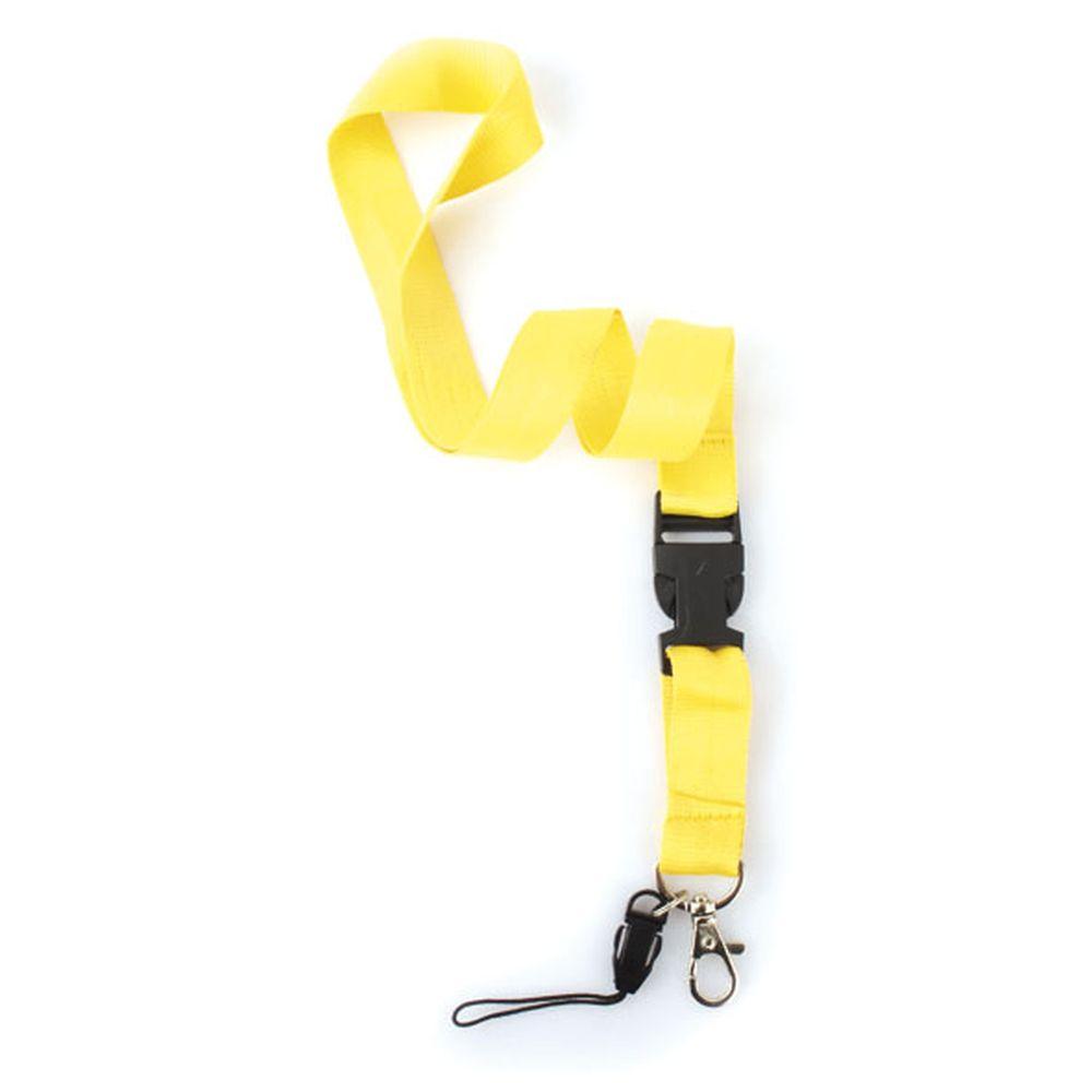 Dvojdílná šňůrka na krk žlutá