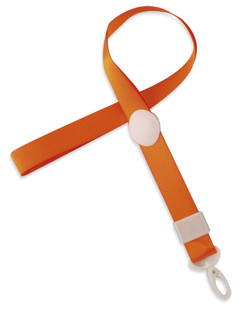 Nastavitelná šnůrka na krk oranžová