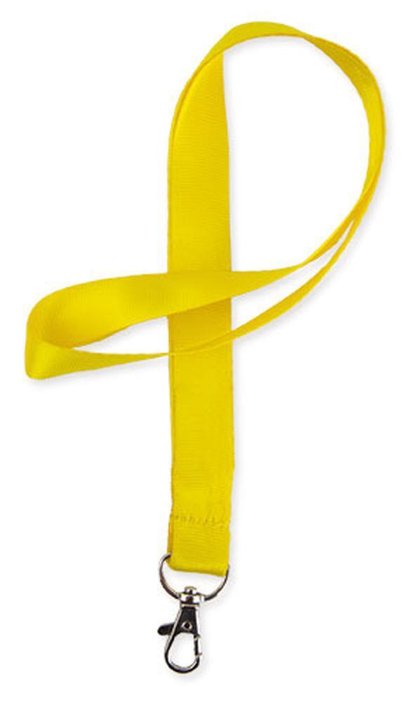 Lesklá šňůrka na krk žlutá