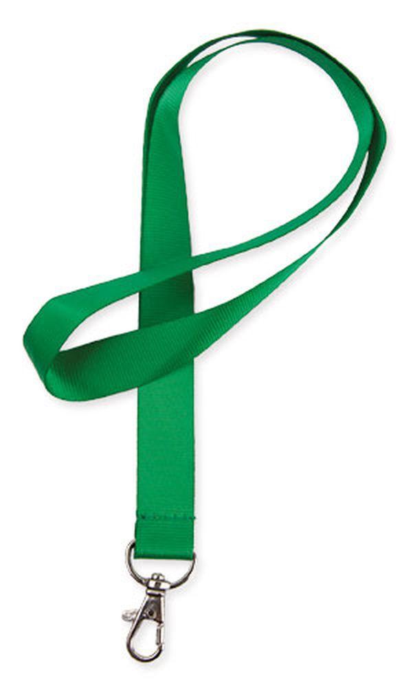 Lesklá šňůrka na krk zelená