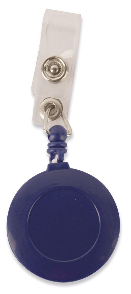 Kulatý držák na identifikační kartu modrý s potiskem