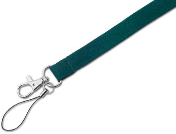 MACY textilní šňůrka na krk s karabinou, zelená